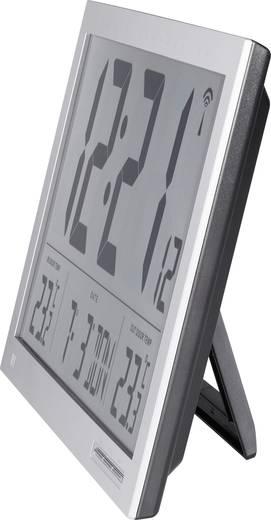Funk Wanduhr 370 mm x 230 mm x 30 mm Silber