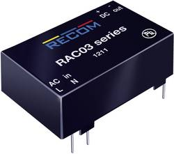 Síťový zdroj do DPS Recom International RAC03-12SC, 12 V/DC, 0,25 A, 3 W