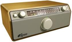 FM stolní rádio Sangean WR-12, AUX, SV, FM, vlašský ořech