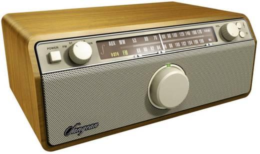 UKW Tischradio Sangean WR12 AUX, MW, UKW Walnuss