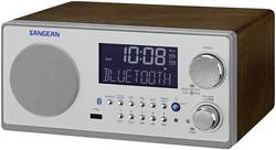 FM stolní rádio Sangean WR-22, AUX, Bluetooth, SV, FM, vlašský ořech