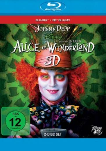 blu-ray 3D Alice im Wunderland 3D FSK: 12