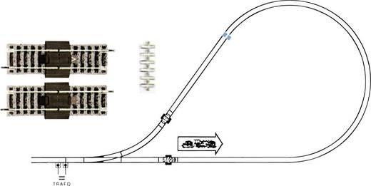 H0 Fleischmann Profi-Gleis 6199 Kehrschleifengarnitur