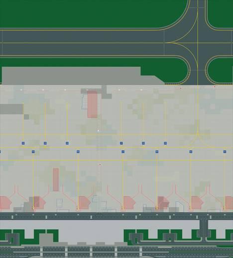 Luftfahrzeug 1:500 Herpa Foliensystem für Flughafen 520430