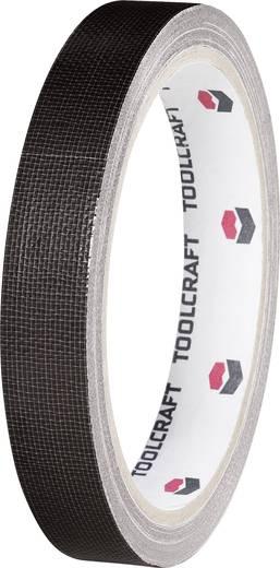 Gewebeklebeband TOOLCRAFT HEB15L10SC Schwarz (L x B) 10 m x 15 mm Hotmeltkleber Inhalt: 1 Rolle(n)