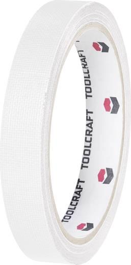 Gewebeklebeband HEB19L10WC Weiß (L x B) 10 m x 19 mm TOOLCRAFT HEB19L10WC 1 Rolle(n)