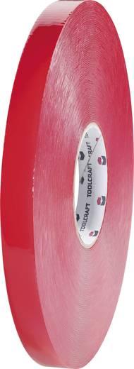 Doppelseitiges Klebeband Transparent (L x B) 3 m x 19 mm TOOLCRAFT 5310B19L3C 1 Rolle(n)