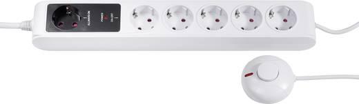 MSE02-G6 Steckdosenleiste mit Schalter 6fach Weiß, Schwarz Schutzkontakt