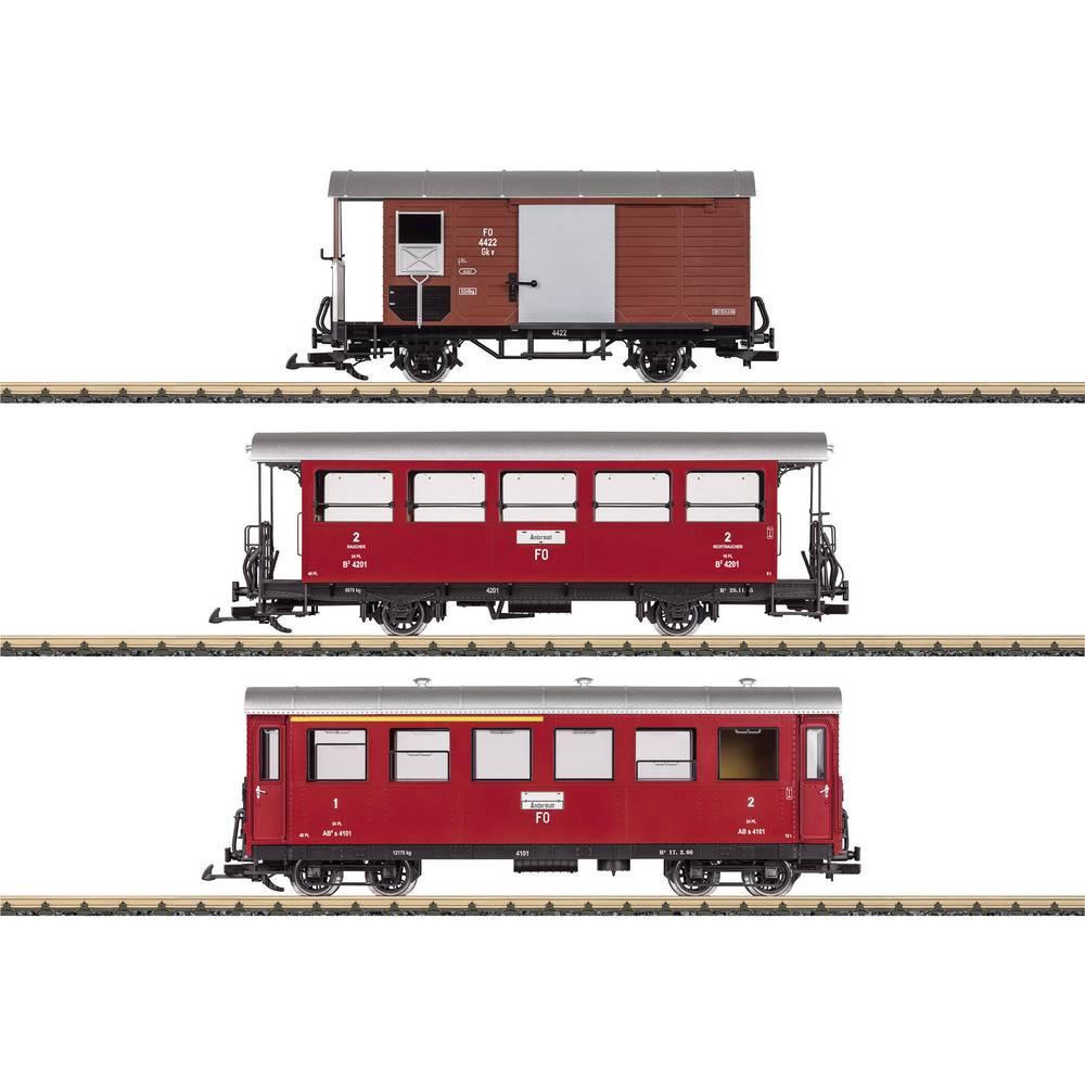 lgb l36641 set de voitures de voyageurs du train rouge de la fo. Black Bedroom Furniture Sets. Home Design Ideas