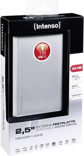 Externe Festplatte 6.35 cm (2.5 Zoll) 1 TB Intenso Memory Home Silber USB 3.0
