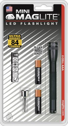 LED Mini-Taschenlampe MAG LED Technology Mini-Mag LED AAA batteriebetrieben 49 g Schwarz