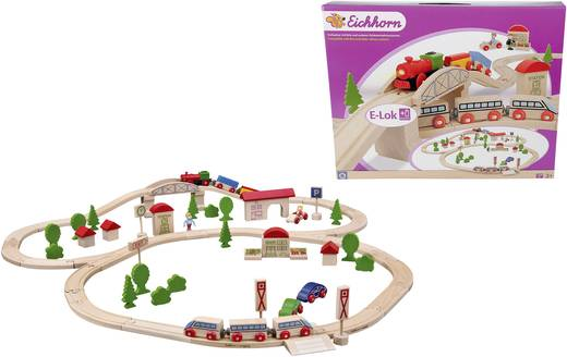 Eichhorn Holzeisenbahn Bahn-Set mit Brücke 100001205