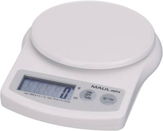 Briefwaage Maul 1645002 Wägebereich (max.) 5 kg Ablesbarkeit 1 g batteriebetrieben Weiß Kalibriert nach ISO