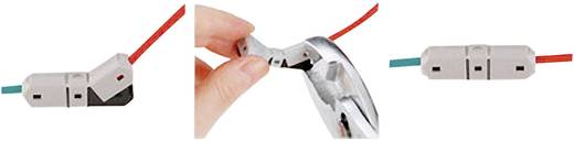 Einzeladerverbinder flexibel: 2.25-3 mm² starr: 2.25-3 mm² Polzahl: 2 JOWOO e-clamp 406041 art 35N014 1 St. Grau, Schwa