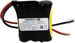 Lítium-železo-fosfátové batérie Emmerich 18650, 1100 mAh, 9,6 V