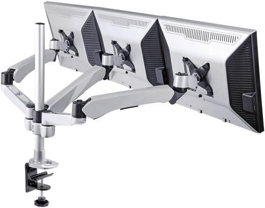 SpeaKa Professional SuperFlex 3fach Monitorhalter, Tischmontage mit Gasdruck-Technik mit Grommet- und C-Klemme