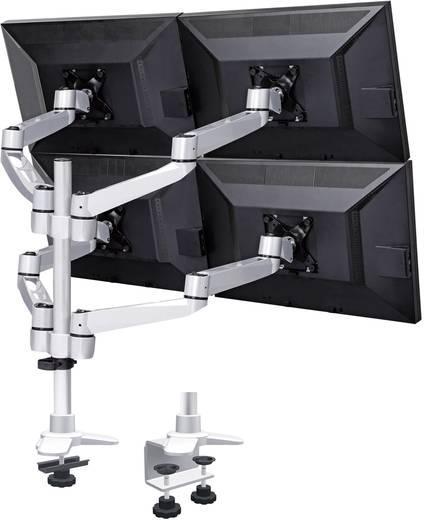 SpeaKa Professional SuperSwivel 4fach Monitorhalter, Tischmontage mit Grommet- und C-Klemme