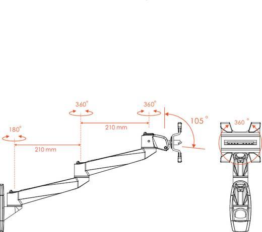 Xergo SuperSwivel Apple Monitor-Wandhalter, Neig-, Schwenk- und Drehbar