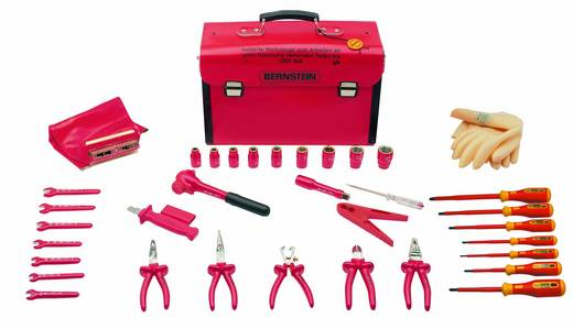 VDE Werkzeugkoffer bestückt 35teilig Bernstein SAFETY 8100 VDE (L x B x H) 440 x 175 x 310 mm