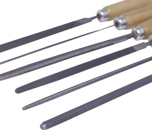 Schlüsselfeilen-Set mit Holzheft im Etui 6tlg. Bernstein 5-240 100 mm