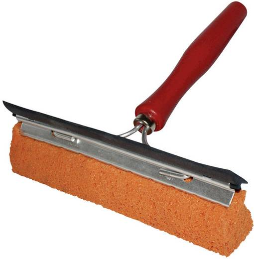Scheibenwascher mit Wasserabstreifer und Holzgriff APA 17070 1 St.