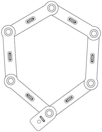 Faltschloss ABUS 6000/120 white Weiß Schlüsselschloss