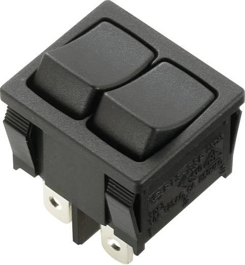 Wippschalter 250 V/AC 6 A 2 x Aus/Ein SCI R13-33PAA-02 rastend 1 St.