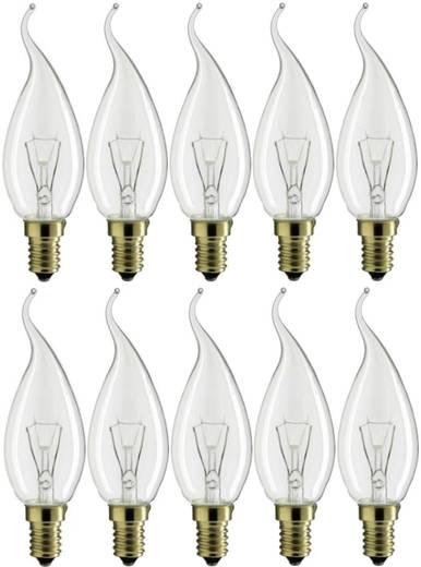 Glühlampe 114 mm Philips 230 V E14 25 W Warm-Weiß EEK: E Kerzenform Inhalt 10 St.