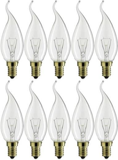 Glühlampe 114 mm Philips Lighting 230 V E14 40 W Warm-Weiß EEK: E Kerzenform Inhalt 10 St.