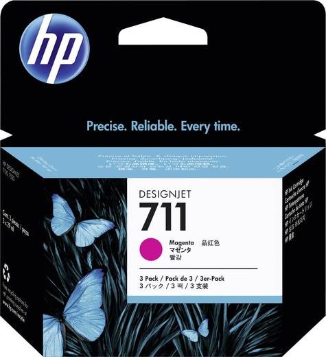 HP Tinte 711 Original 3er-Pack Magenta CZ135A