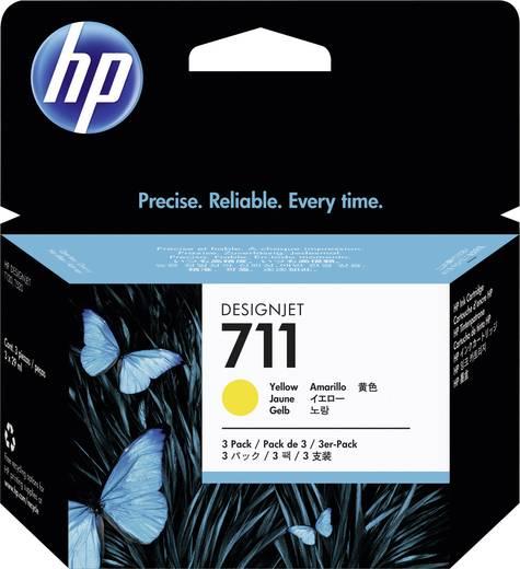 HP Tinte 711 Original 3er-Pack Gelb CZ136A