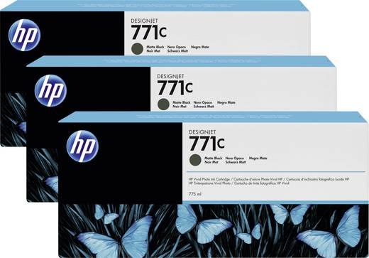 HP Tintenpatronen 3er-Pack 771C Matt Schwarz B6Y31A