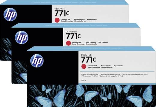 HP Tintenpatronen 3er-Pack 771C Rot B6Y32A