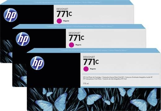 HP Tintenpatronen 3er-Pack 771C Magenta B6Y33A