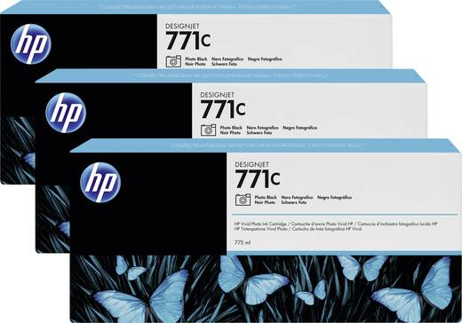 HP Tintenpatronen 3er-Pack 771C Foto Schwarz B6Y37A