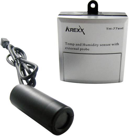 Datenlogger-Sensor Arexx TSN-TH77ext Messgröße Temperatur, Luftfeuchtigkeit -40 bis 124 °C 5 bis 100 % rF Kalibriert nach Werksstandard