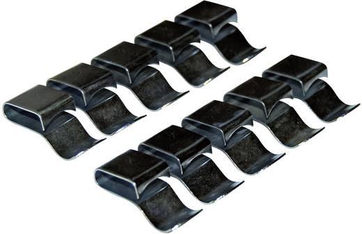 Attaches de câbles, 12 x 43 mm, zingué, 10 pièces LAS