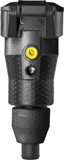 Schutzkontaktkupplung Kunststoff mit Spannungsanzeige 230 V Schwarz IP54 ABL Sursum 1589200