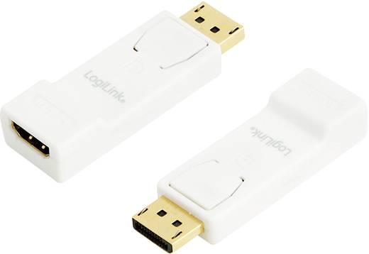 DisplayPort / HDMI Adapter [1x DisplayPort Stecker - 1x HDMI-Buchse] Weiß vergoldete Steckkontakte LogiLink