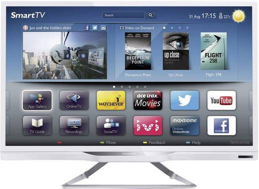 philips pfl4228k 12 led tv 61 cm 24 zoll dvb t dvb c dvb s hd ready smart tv wlan pvr. Black Bedroom Furniture Sets. Home Design Ideas