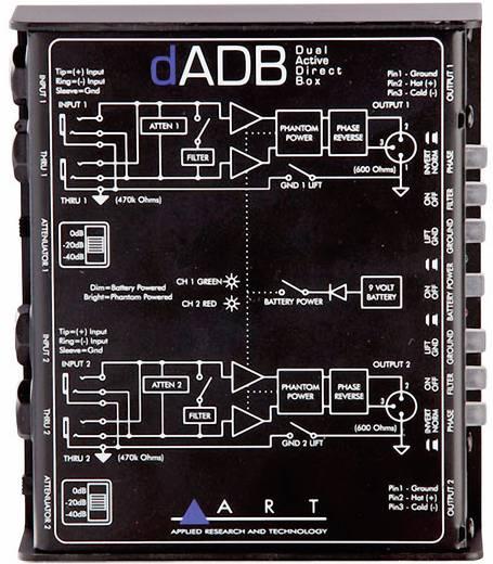 Aktive DI Box 2-Kanal ART Audio DUALXDIRECT active