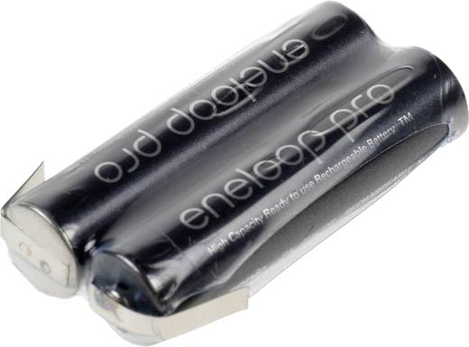 Akkupack 2x Micro (AAA) Z-Lötfahne NiMH Panasonic eneloop Pro 2.4 V 900 mAh
