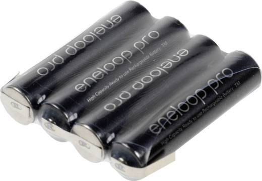 Akkupack 4x Micro (AAA) Z-Lötfahne NiMH Panasonic eneloop Pro 4.8 V 900 mAh