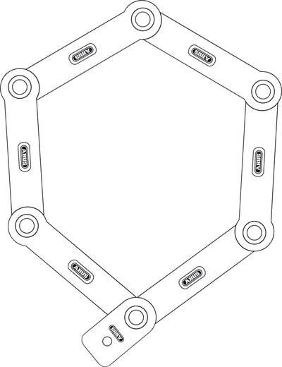 Lucchetto pieghevole ABUS Abus 6500/85 black Nero con codifica Lucchetto a chiave