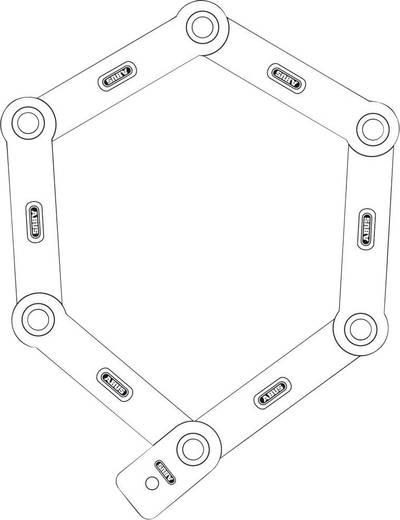Faltschloss ABUS 6000/90 white Bordo Big Weiß Schlüsselschloss