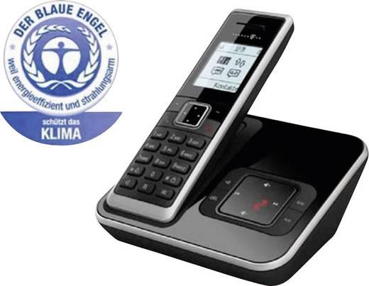 Schnurloses Telefon analog Telekom Sinus A206 Anrufbeantworter, Babyphone, Freisprechen Schwarz, Silber