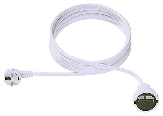 Strom Verlängerungskabel Weiß 5 m Bachmann Electric 341.286
