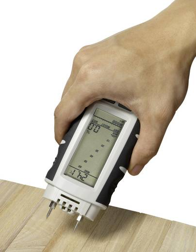 Materialfeuchtemessgerät VOLTCRAFT FM-400 Messbereich Baufeuchtigkeit (Bereich) 0.1 bis 24 % vol Messbereich Holzfeuchti