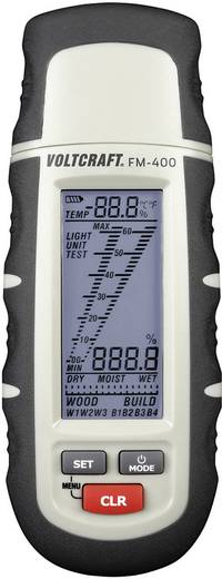 Materialfeuchtemessgerät VOLTCRAFT FM-400 Messbereich Baufeuchtigkeit (Bereich) 0.1 bis 24 % vol Messbereich Holzfeuchtigkeit (Bereich) 1 bis 60 % vol