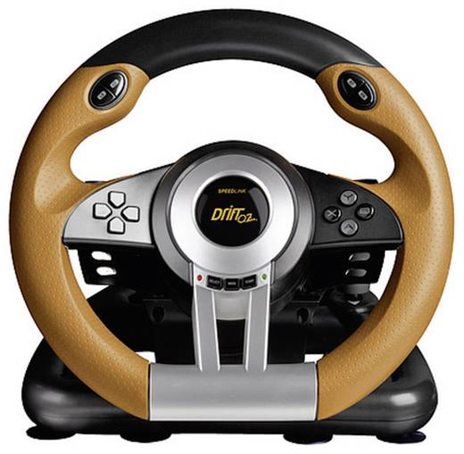 Lenkrad Speed-Link DRIFT O.Z. Racing Wheel USB PC Schwarz, Orange inkl. Pedale